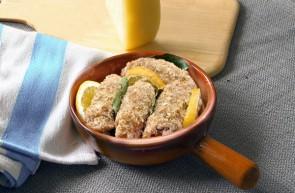 Involtini di pesce spada olio di semi d'uva ( vinacciolo ) Piave