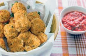 Polpette al curry con carote e zucchine olio di semi d'uva ( vinacciolo )
